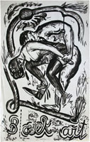 Evgenij Kozlov: B(L)ack art, 71.8 x 45.3 cm Indian ink, paper, 1986